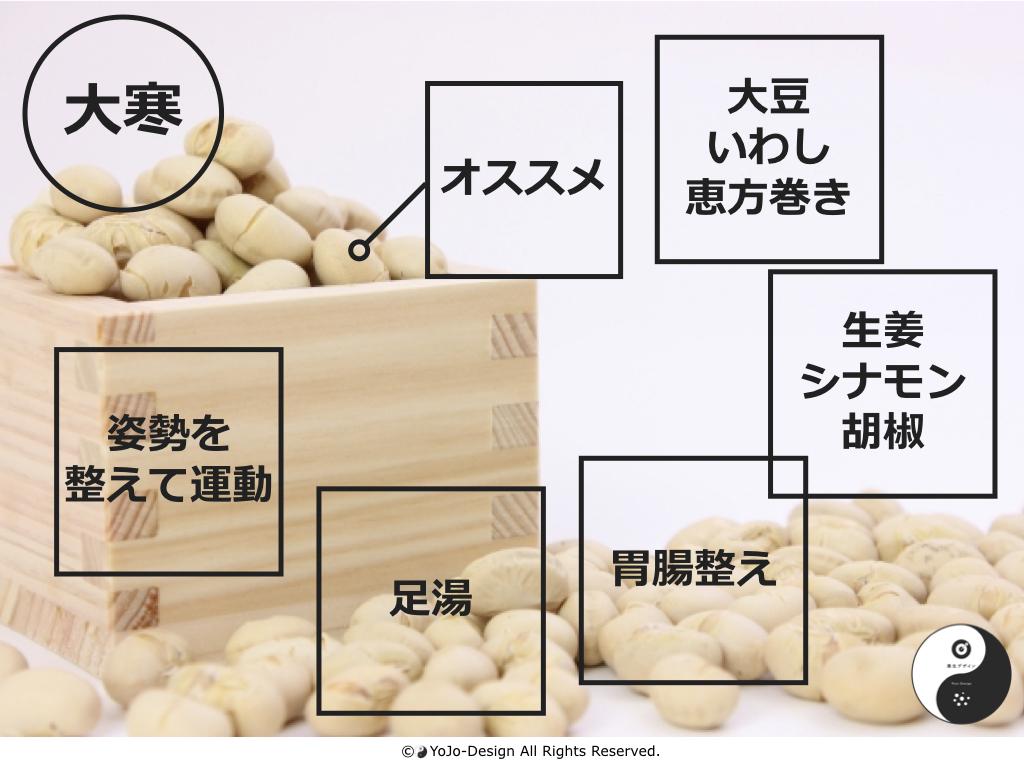 大寒:お味噌など仕込むのに良い季節です。